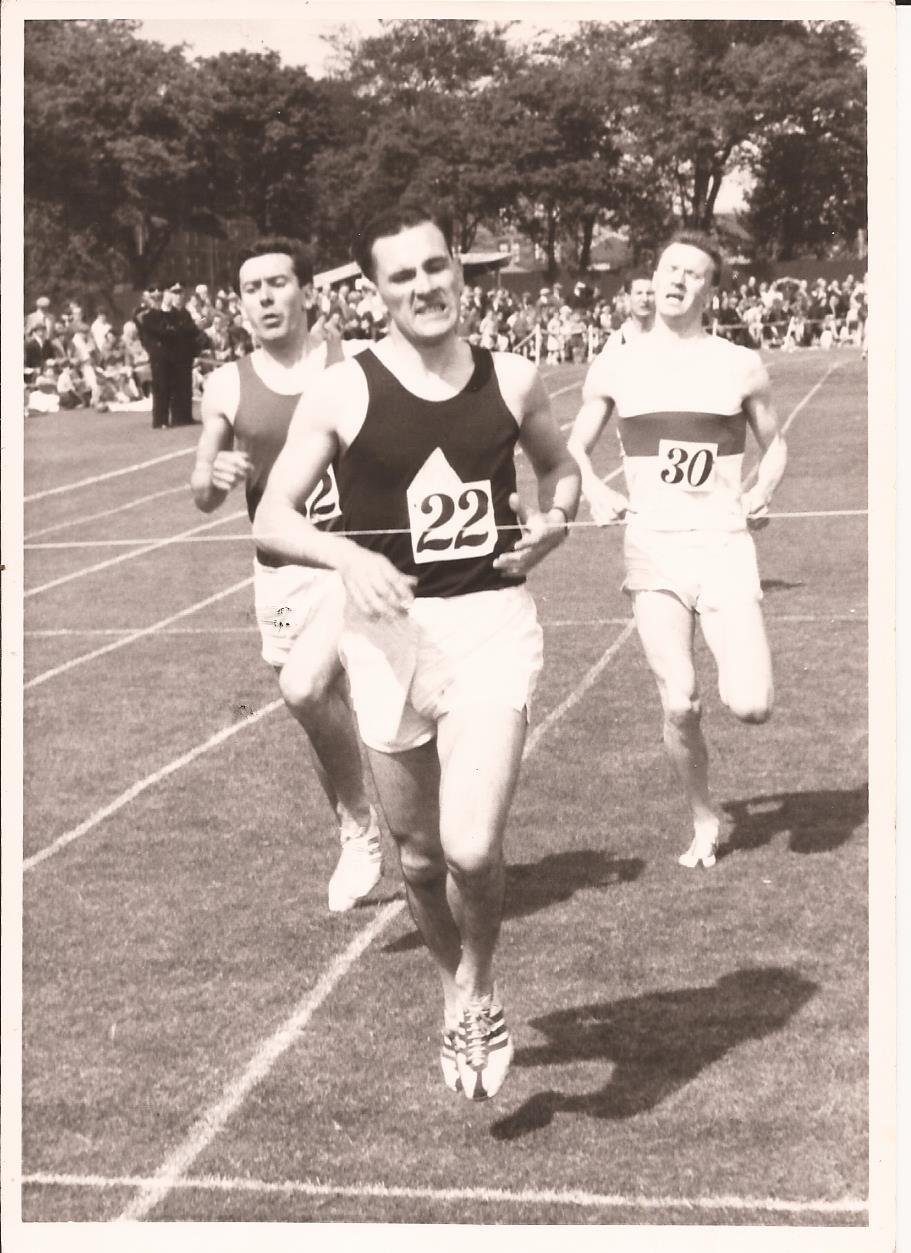 Danny running in the Babcock's half mile in 1958