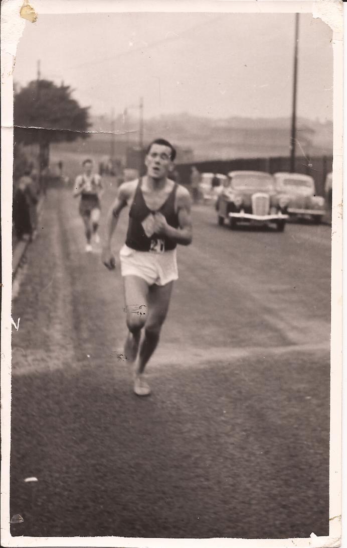 Danny running in the McAndrew 1959