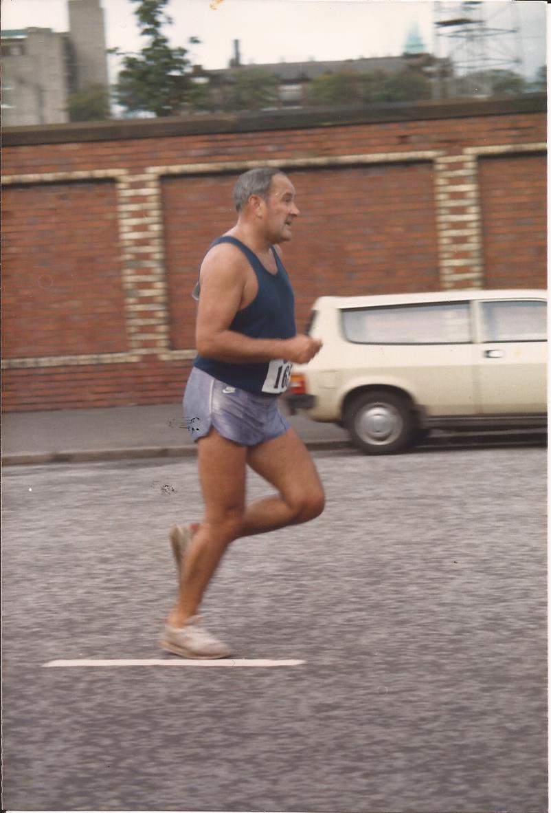 Danny running in the McAndrew