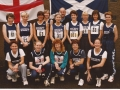 Danny with the Scottish Women's team at Ballymena, 1995