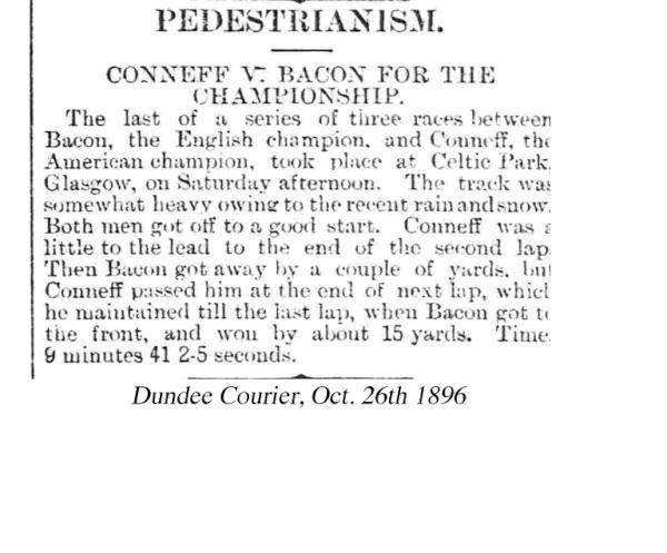Celtic Park: 1896 pedestrianism