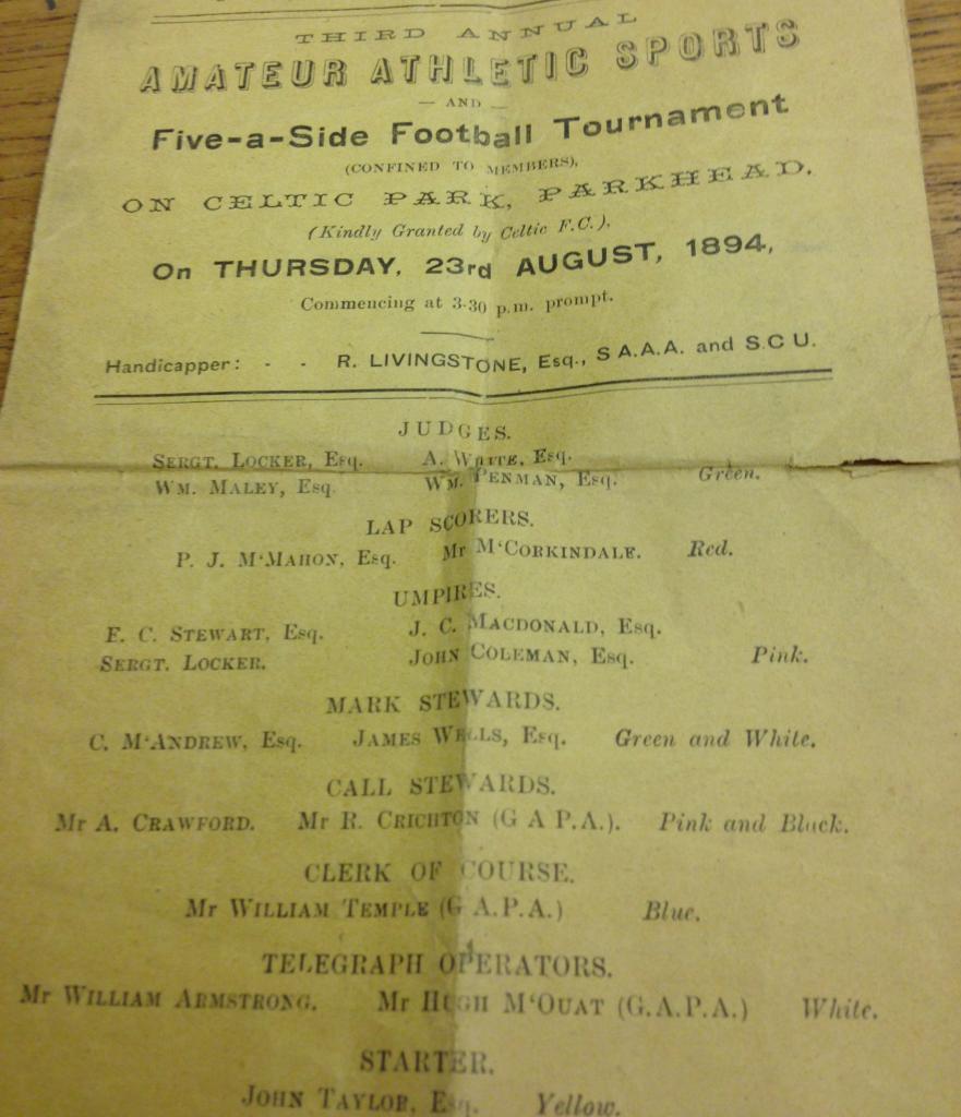 Celtic Sports 1894