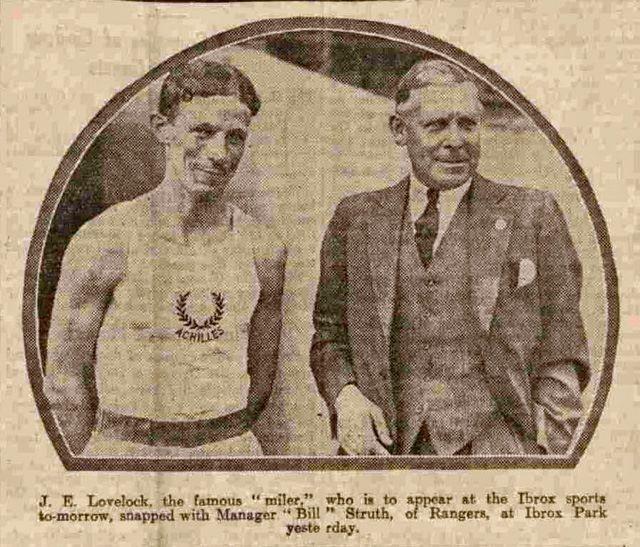 Bill Struth and Jack Lovelock