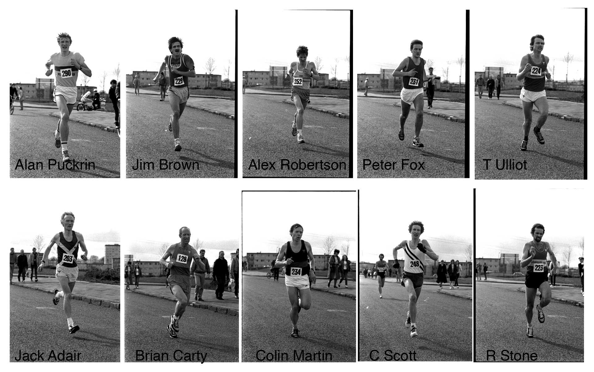 Tom Scott 1985 - First 10 finishers.