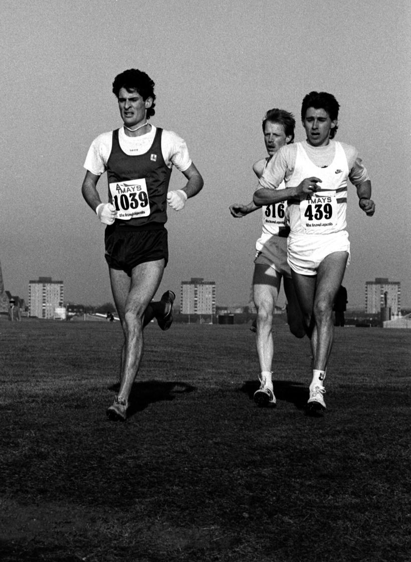 A Callan (5th), C Hasket (6th), J Robson (4th) -Nat XC, Irvine, 1986