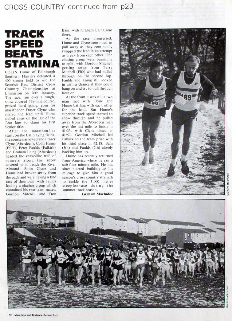 East Dist XC, 1985. M & D Runner. G MacIndoe