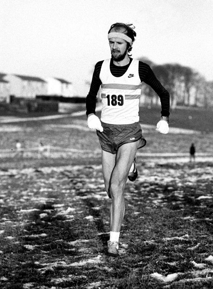 Fraser Clyne (2nd) East Dist XC, 1985. Photo - G MacIndoe