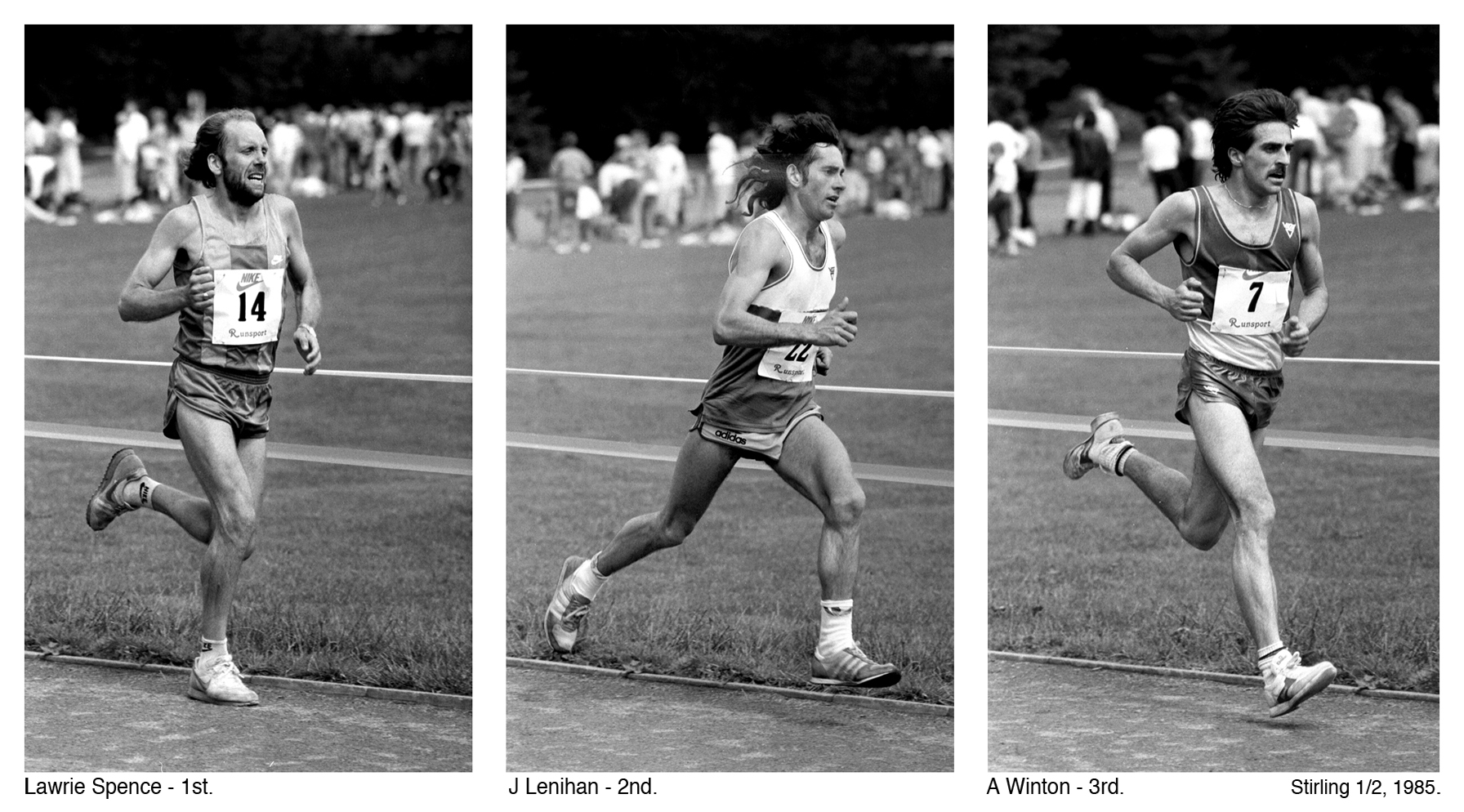 Lawrie Spence - 1st, Stirling Half, 1985. Photo Graham MacIndoe