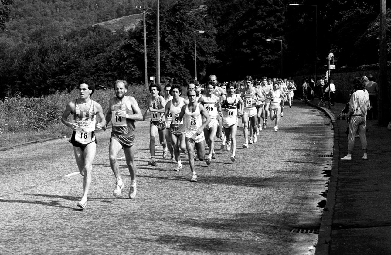 Stirling Half Marathon Start, 1985