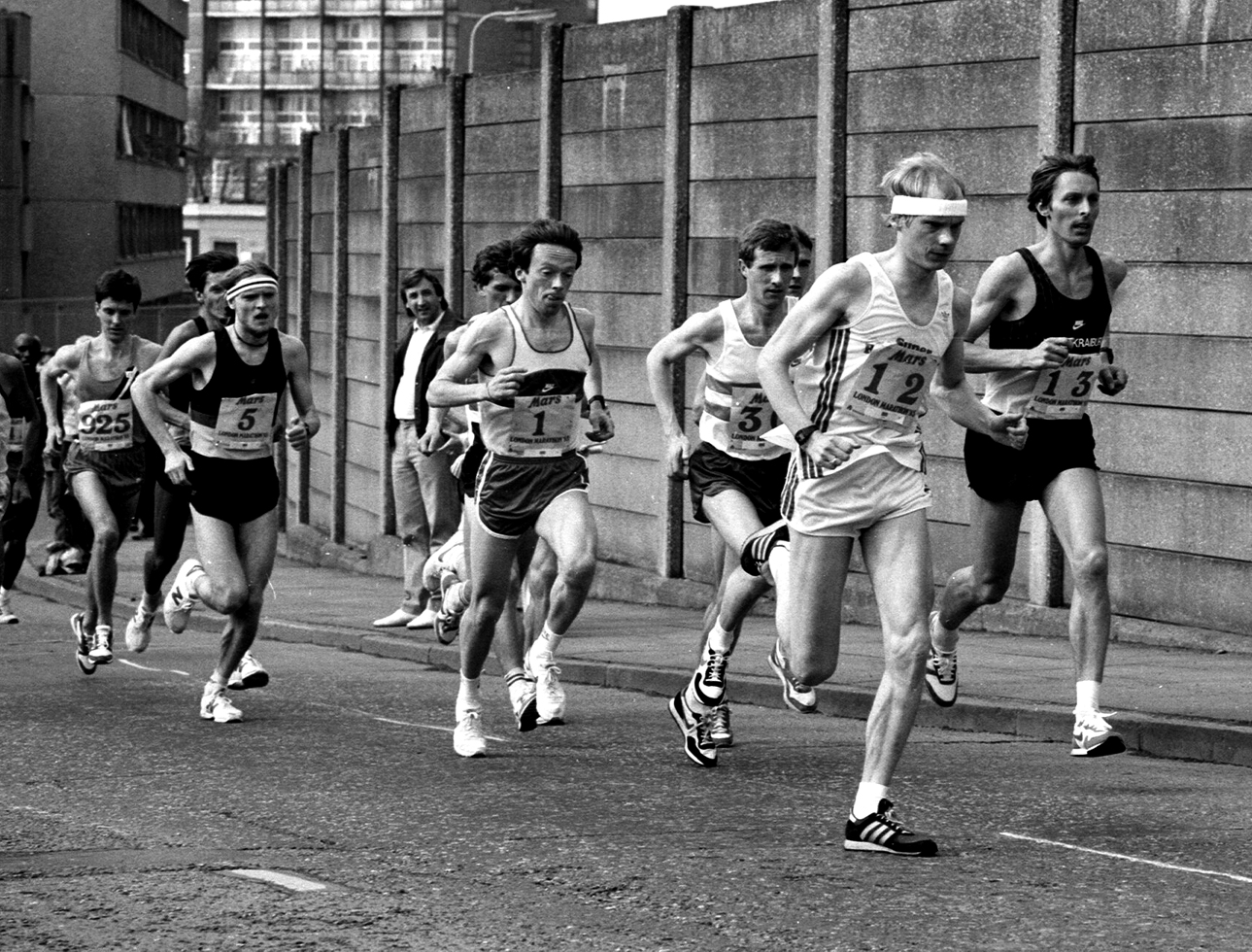 A Hutton, London Marathon (3rd), 1985