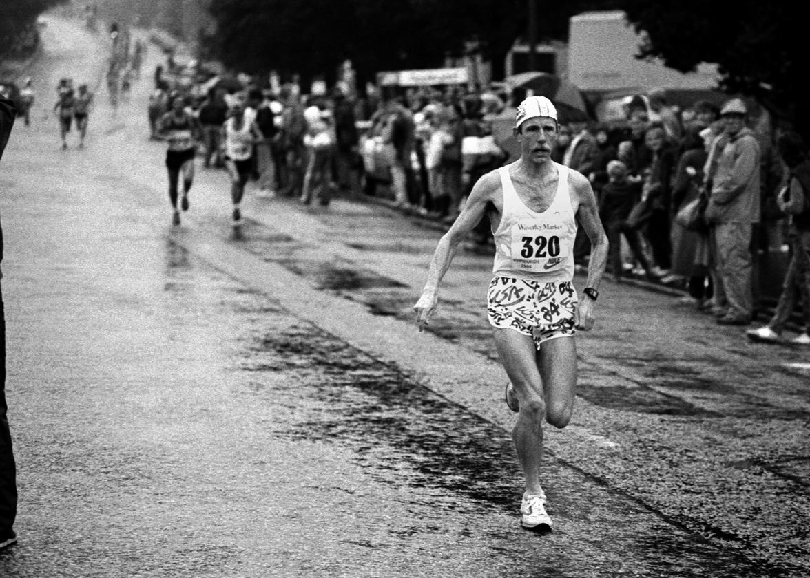 Brian Kirkwood, Edin. Marathon, 1984. Ph. G MacIndoe