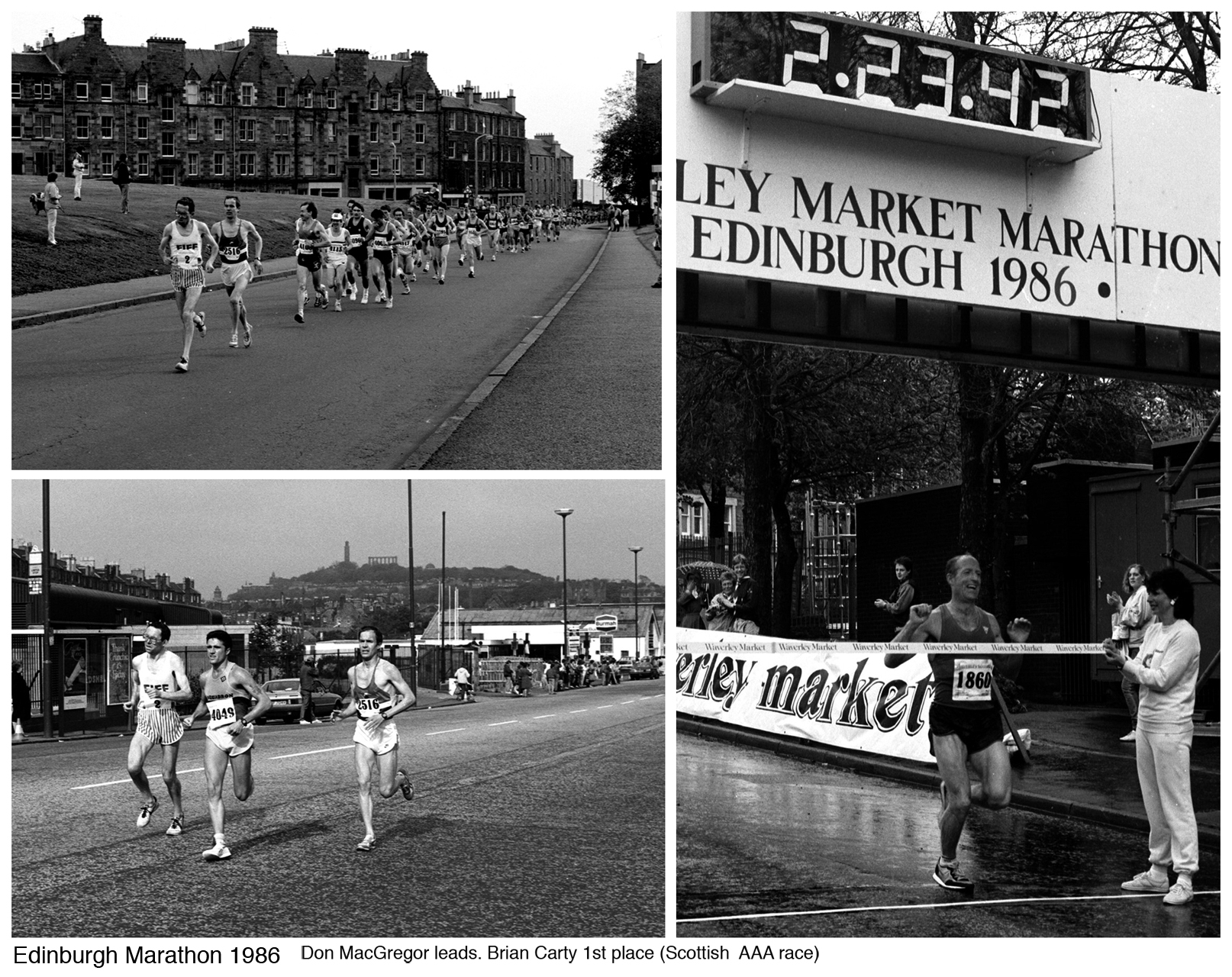 D MacGregor, B Carty - Edinburgh Marathon, 1986