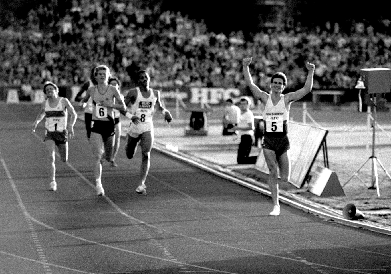 Graham Williamson beats Steve Cram, Edin, 1984 Photo- Macindoe