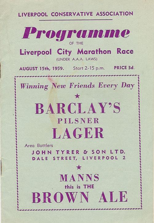 Liverpool Marathon 1962