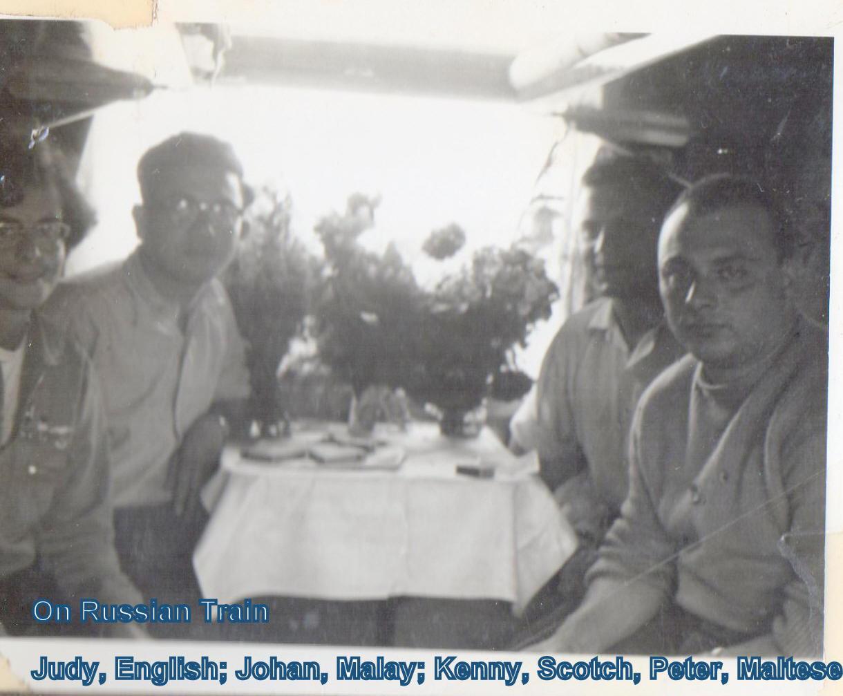 Judy (England), John (Malay), Kenny (Scotland),  Peter (Malay)