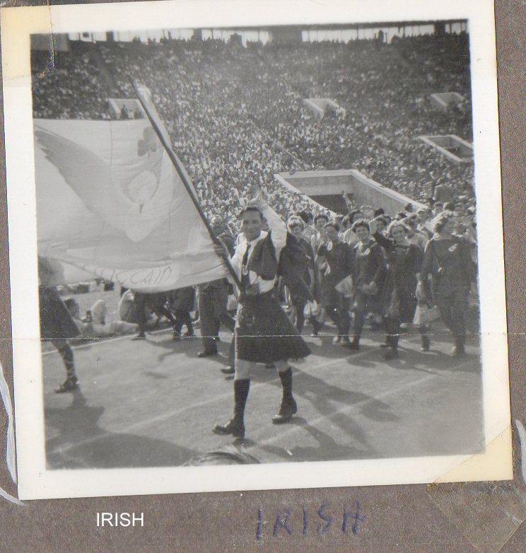 The Irish Team Enters the Stadium