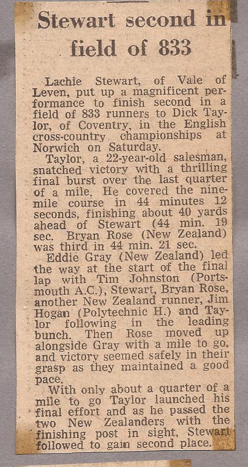 Lachie C 67 - Norwich Result