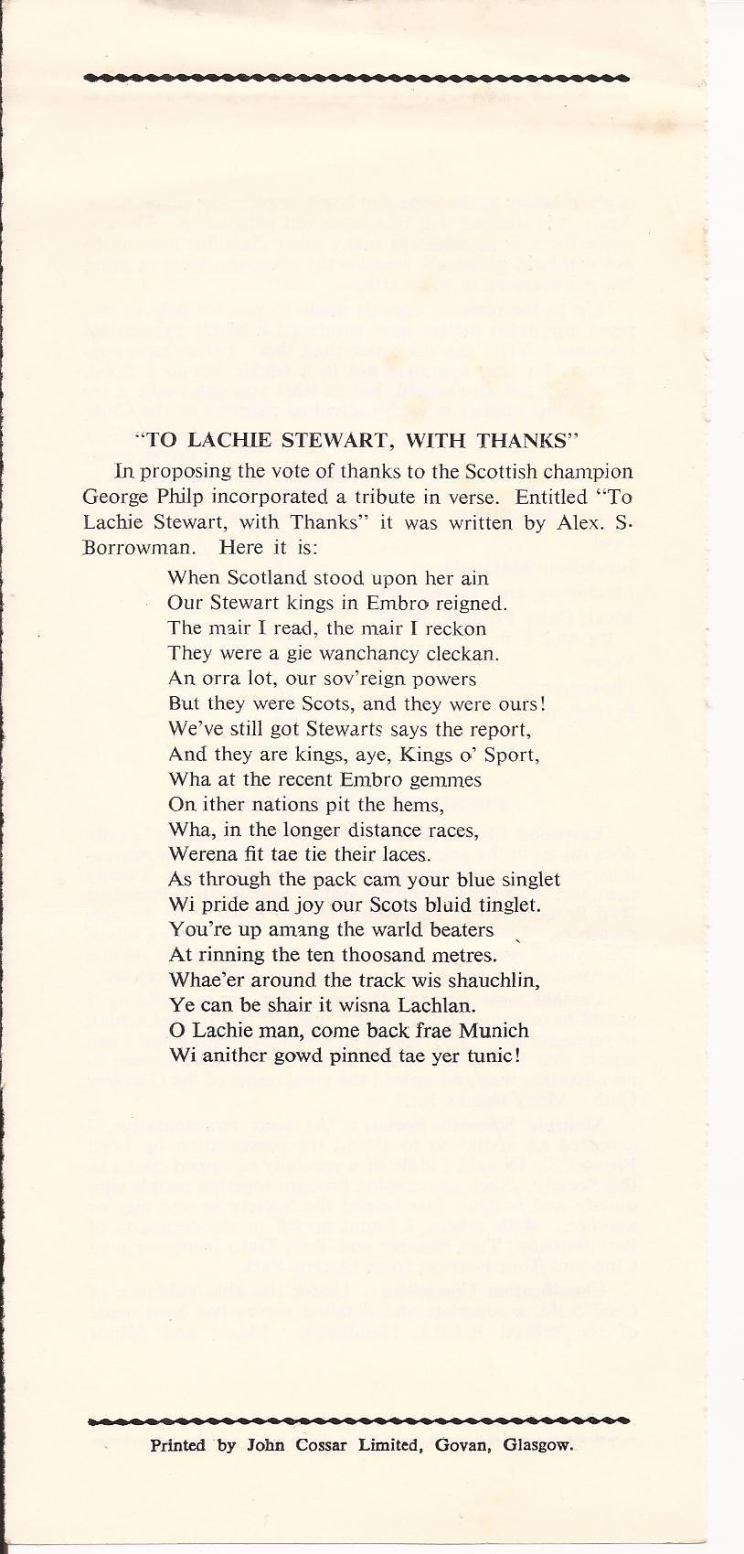 Lachie C Poem