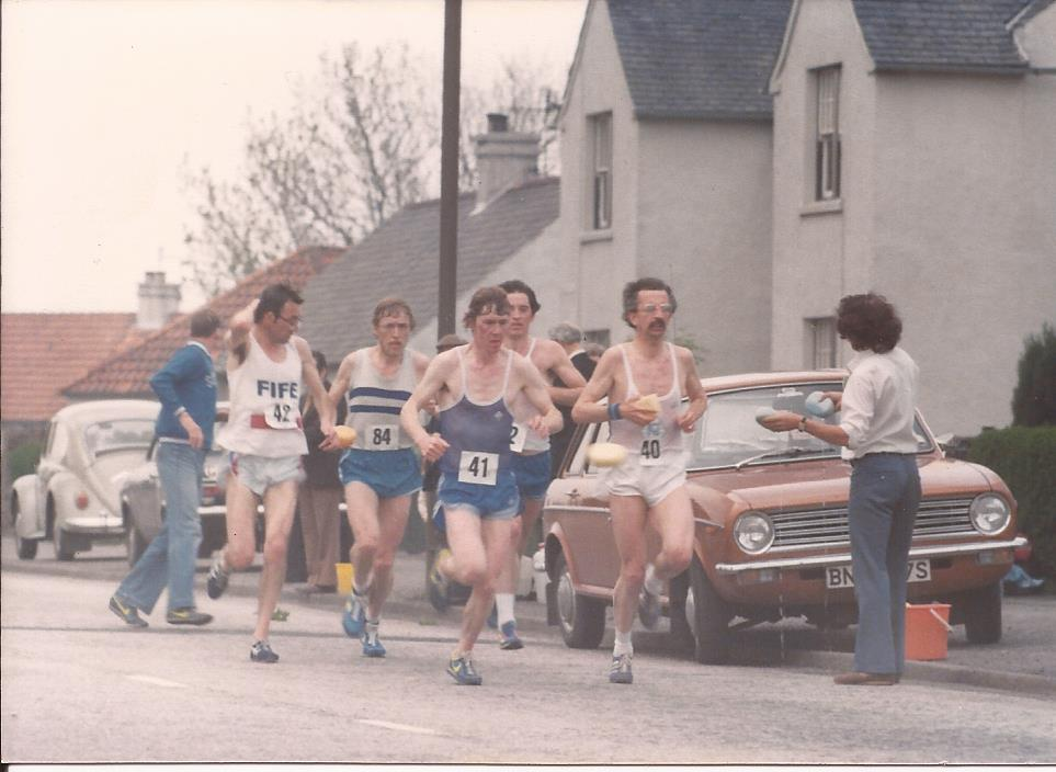 Leaders early on: Don Macgregor, Colin Youngson, David Lang and Alastair Macfarlane