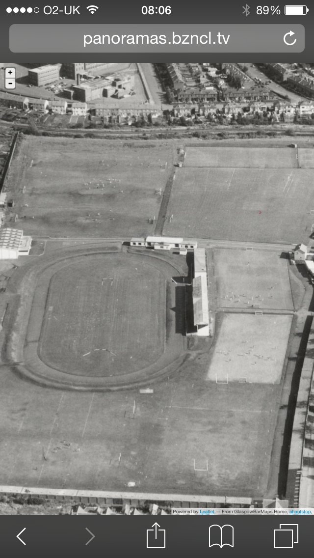 The track and Scotstoun Showgrounds, Glasgow