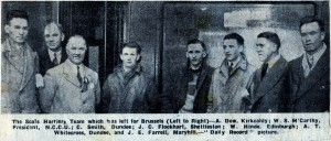 1937 Scottish ICCU team