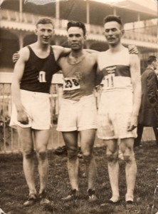 Peter Allwell Emmett Farrell and Alec Dow at Ayr