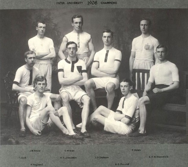 1908 Edinburgh University team (Tom Jack, H.T. Jamieson etc)