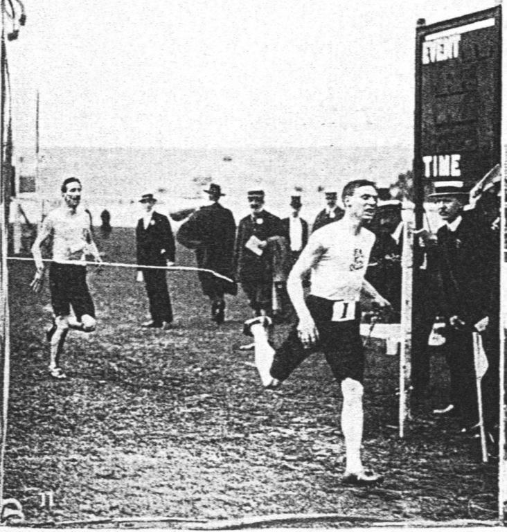 1908 Oly steeplechase finish