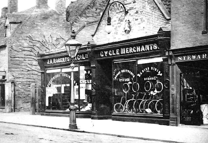 J.A. Robertson, cycle merchants, 1911