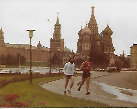 Sandy & Doug Gillon out for a jog at the Kremlin