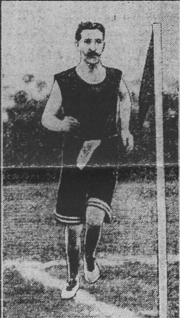 1910 ABERDEENSHIRE MARATHON WINNER JIM GREIG